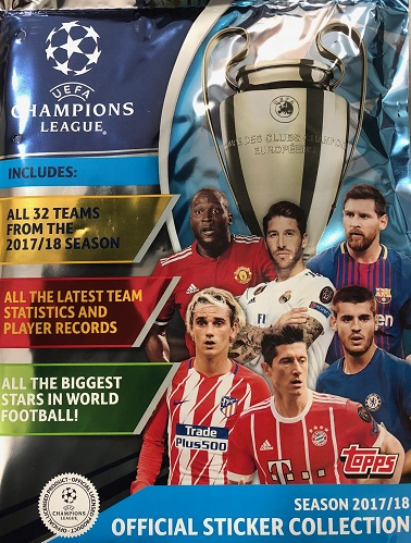 TOPPS STARTER PACK CHAMPIONS LEAGUE 2017-2018