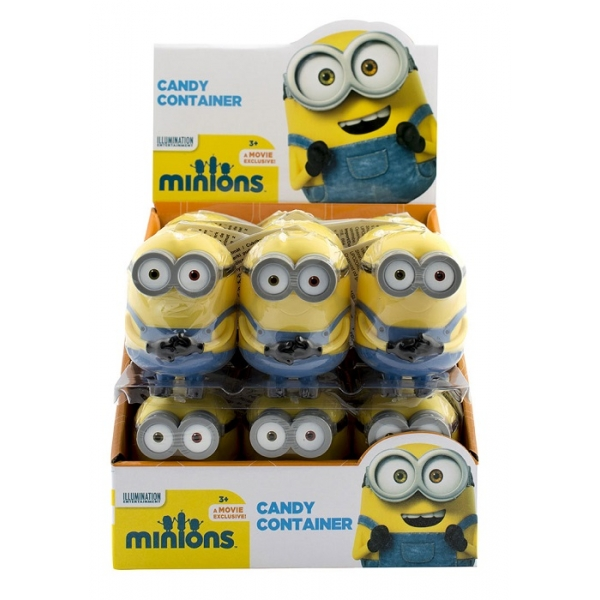 CANDY CONTAINER MINIONS 18T