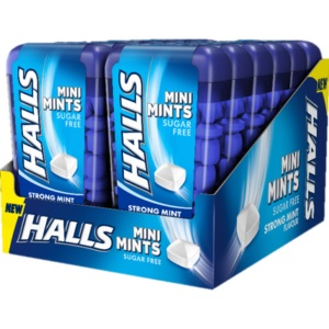 HALLS MINI MINTS STRONG 150gr 12τμχ